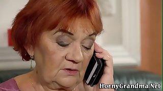 Fat granny gets facial