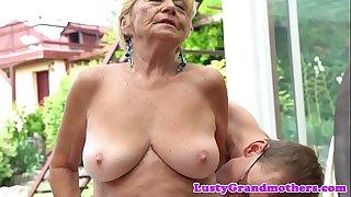Lovely granny banged..