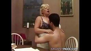 Granny Teacher Flirts With..