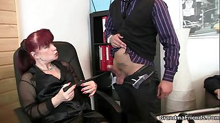 Office mature bitch riding..