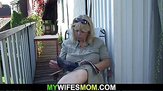 Wife finds her old mother..