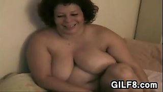 Big Granny Plays With Her..