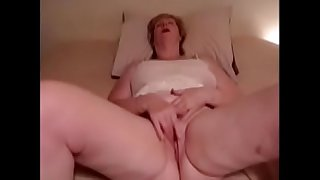 Grandma rub her clit to orgasm