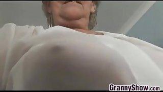 Grandma Teasing Her Pussy..