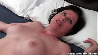 British milf Julie is toying..