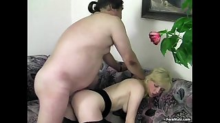 Blonde mature gets what she..