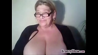 Thick Grandma Plays With Her..