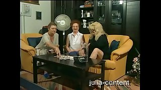 Grandmas do threesome Sex