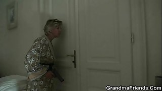 Mature lady is slammed by..