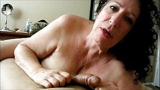 Horny Grandma POV Blowjob