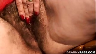 Granny With Extremely Hairy..
