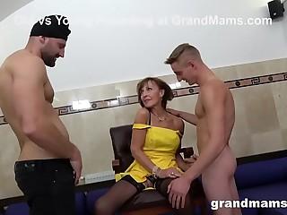 Granny Sprinkled at a Sex Club