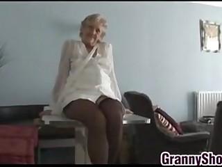 Kinky Granny Teasing Her..