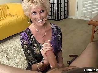 Topless Granny Splattered..