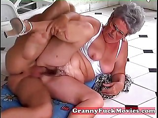 stud pounds granny her aged..