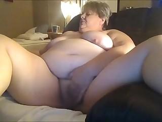 Chunky Granny Masturbating..