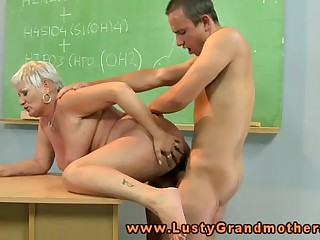 Amateur granny teacher..