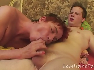 Granny gets penetrated by a..