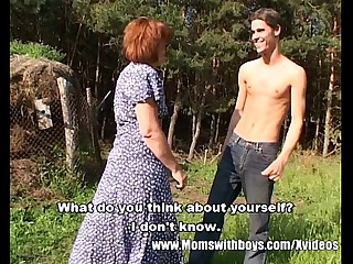 Skinny Farm Boy Outdoor Sex..