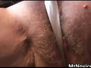 Hairy Granny Plays With Her..