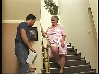 granny gets fucked as a..