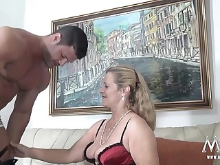 MMV FILMS Sexy Granny tries..