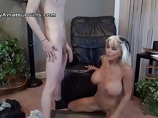 Granny likes big young cock.