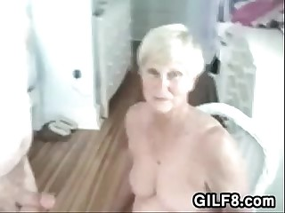 Naughty Granny Gives Her Man..