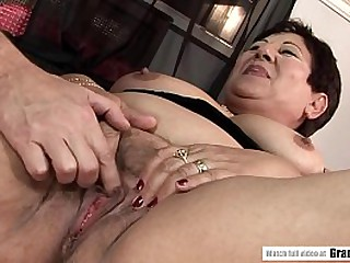 Old BBW Granny Enjoying her..