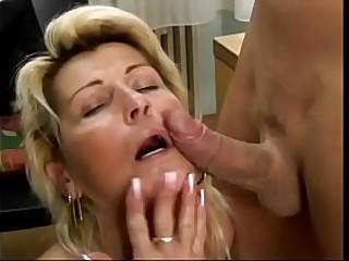 Hot blonde granny takes..