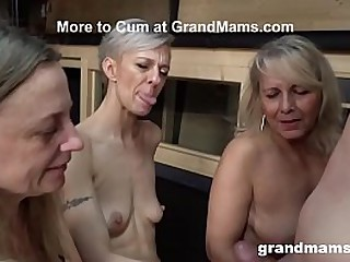 Three Mature Cougars Devour..