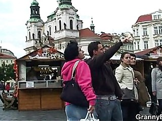 Granny tourist gets picked..