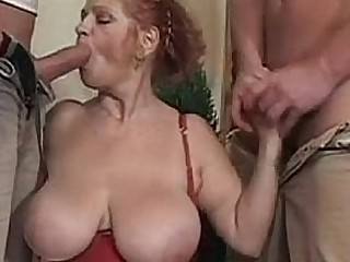 Granny BBW Ildiko Fucks Two..
