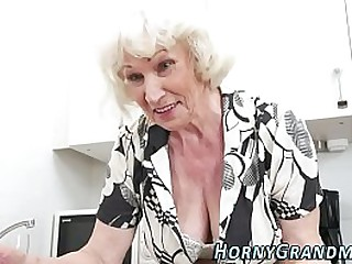 Granny Norma pays the mechanic