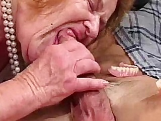 Toothless Granny Sucks And..