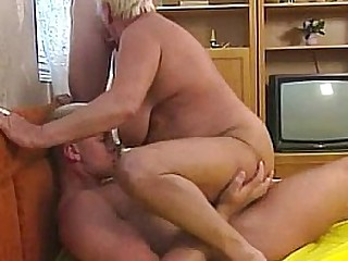 Busty blonde granny enjoys..