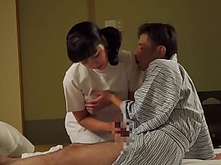 JAV granny masseuse with..