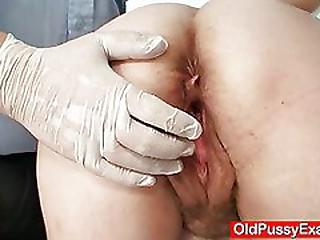 Mature Jindra gyno old pussy..