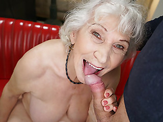 White haired GILF Plowed by..