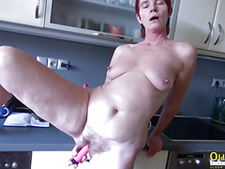 OldNanny Pissing and toying..