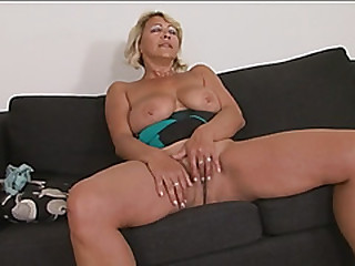Busty blonde gilf doggy..