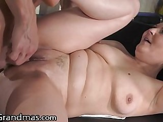 BBW Granny Gets Fingered And..
