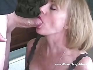Granny Giving A Classy Blowjob
