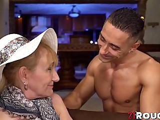 Mature granny hammered by..