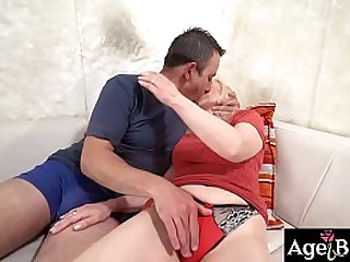 Rob starts licking granny..