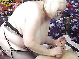 Granny giving a best handjob