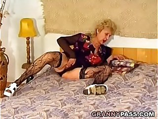 Hairy Granny Gets Pounded..