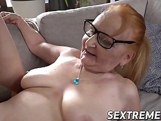 Redhead granny licks cute..