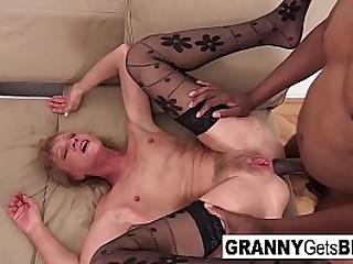 Old sluts share a black cock