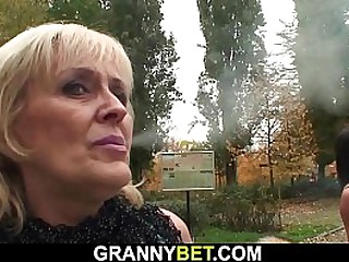 Very old granny fucks with a..